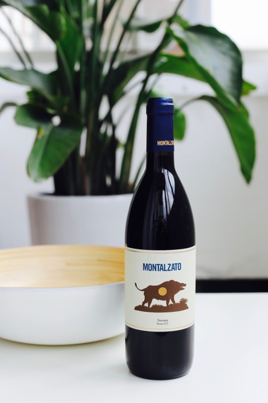 Our Montalzato, a Tuscan red wine rich with earthy flavors