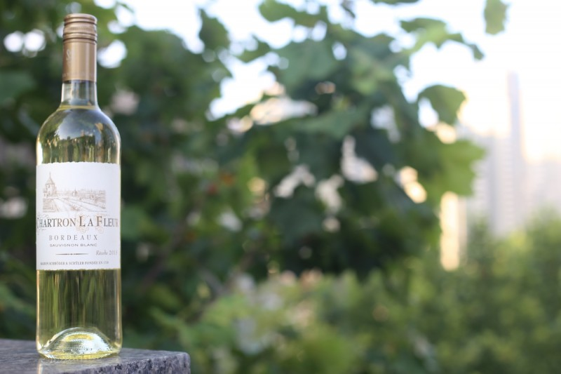 A bottle of our Sauvignon Blanc Chartron La Fleur