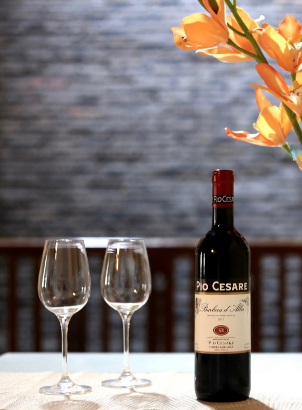 Our Pio Cesare Barbera d'Alba, an Italian red that we'd definitely describe as complex