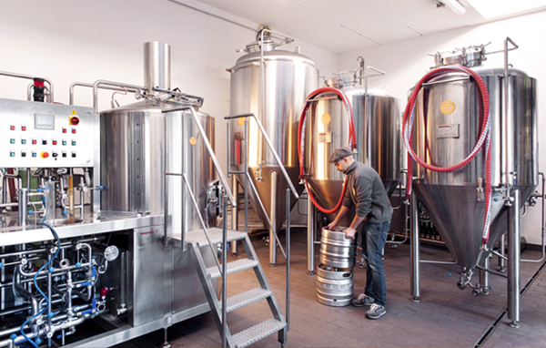 The brewery of Frank & Serafico, craft beer brewers and winemakers
