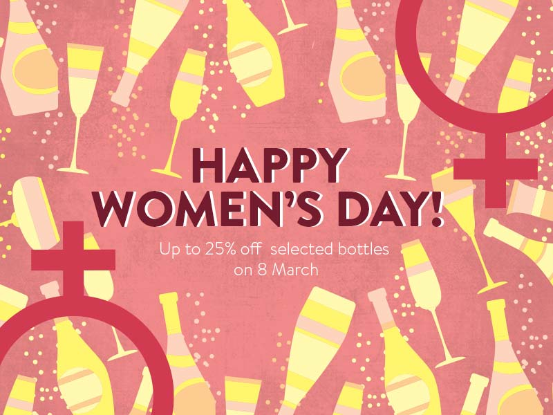 Shanghai & Suzhou | Get Up to 25% OFF Selected Bottles this Women's Day