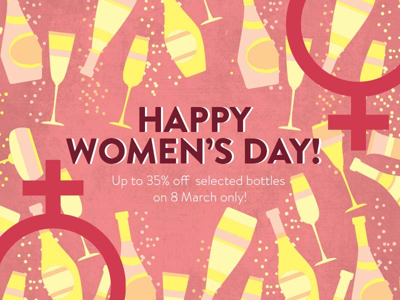 Hong Kong | Get Up to 35% OFF Selected Bottles this Woman's Day