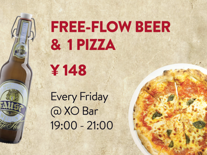 xo bar free flow free-flow craft beer deal shanghai bar french concession pizza deal friday happy hour deal