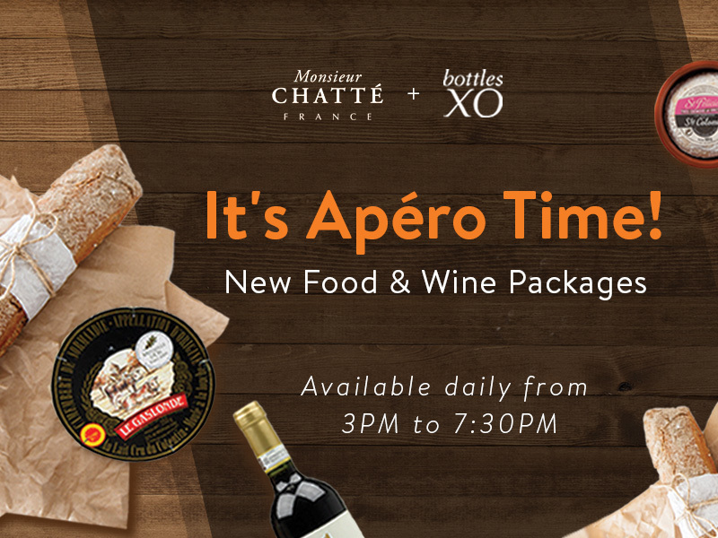 Hong Kong | Order New Food & Wine Packages from BottlesXO & Monsieur Chatté
