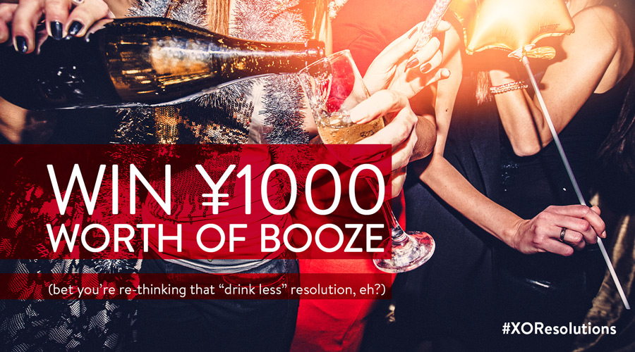 Shanghai | WIN RMB 1,000 Worth of Drinks with #XOResolutions