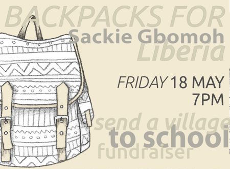 Shanghai |  Join us to Raise Money for Backpacks for Sakie Gbomoh on Friday, 18th May