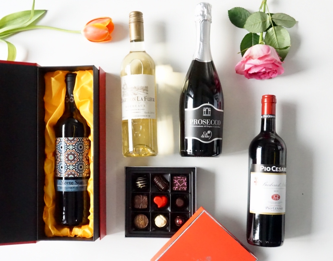 Valentine's Wine & Chocolate Gift Sets Available Now