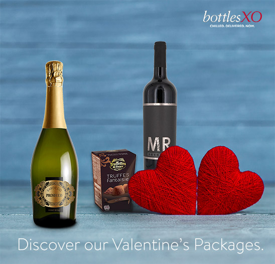 With BottlesXO, the perfect combos for a lovely Valentine's day at home!